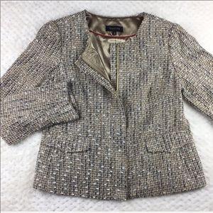 Talbots Metallic Tweed Blazer